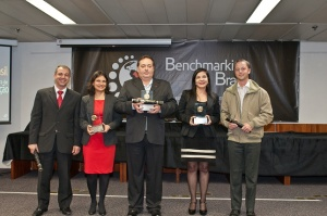 3 primeiros colocados ranking Benchmarking2015 - Foto divulgação