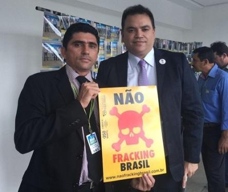 Vereador Tio Jardel (à esquerda) e Juliano Bueno de Araújo