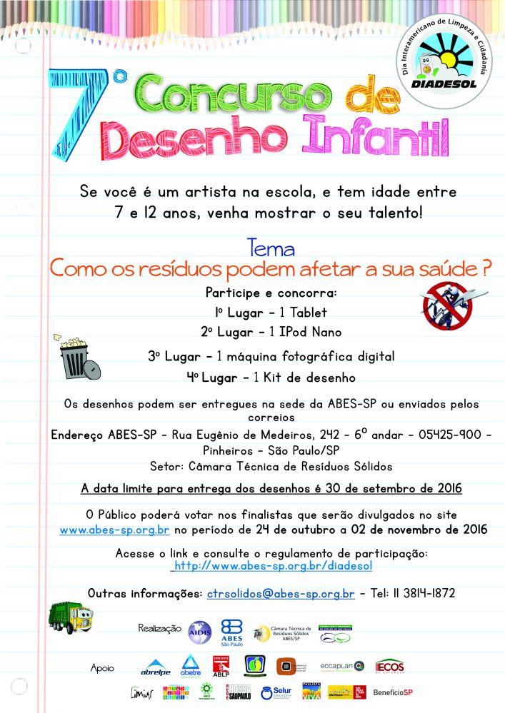 10 - 7 Concurso de Desenho Infantil
