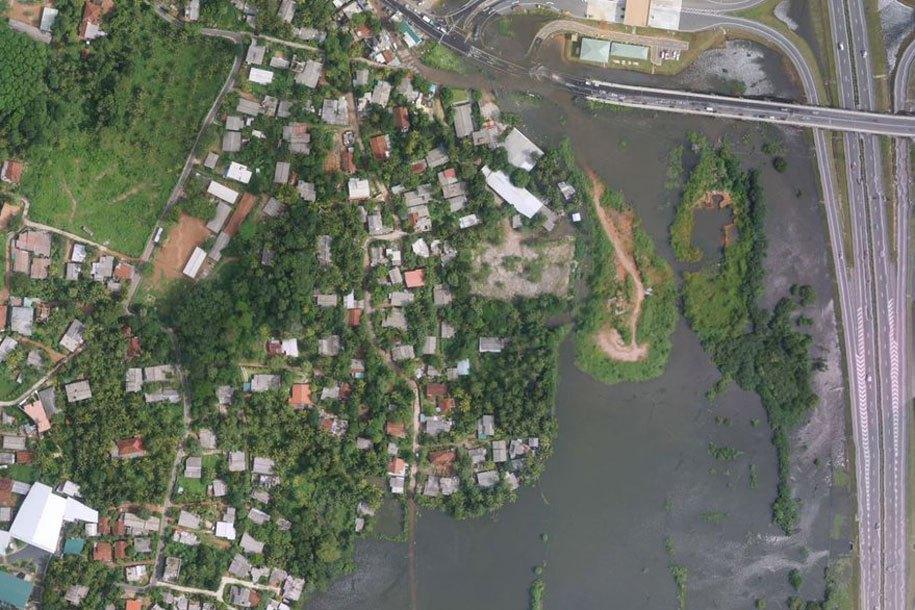 ista aérea de inundações no Sri Lanka após tempestade tropical Roanu. Foto: UNDP