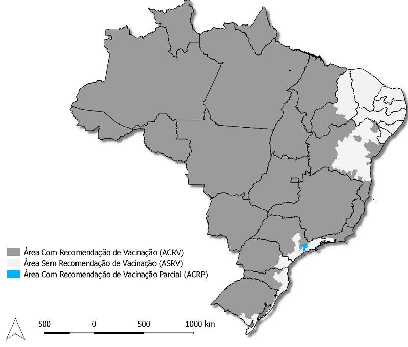 Mapa da febre Amarela