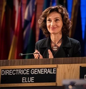 Diretora-geral  Audrey Azoulay. Foto: UNESCO
