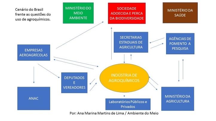 Cenário  do Brasil frente as questões do uso de agroquímicos.