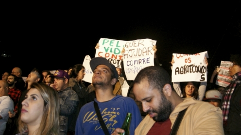 Manisfesto com Caetano Veloso. Foto: Ambiente do meio