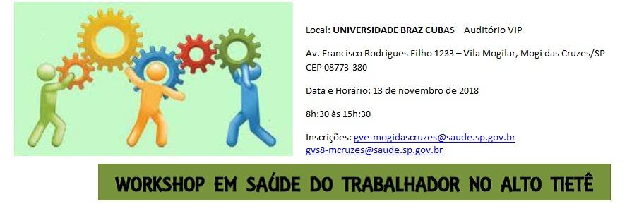 Workhop saúde do trabalhador no Alto Tietê